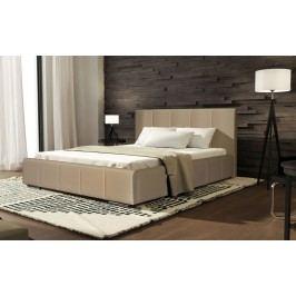 Čalouněná manželská postel v béžové barvě 140x200 KN519