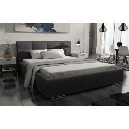 Luxusní čalouněná postel v černé barvě 140x200 KN536