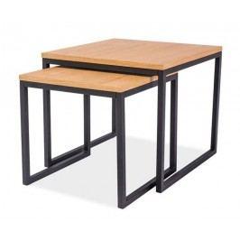 Konferenční stolky v moderní barvě dub set 2 ks KN565