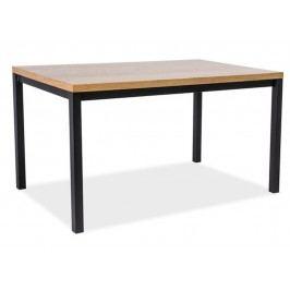 Jídelní stůl 180x90 cm v jednoduchém provedení v dekoru dub KN556