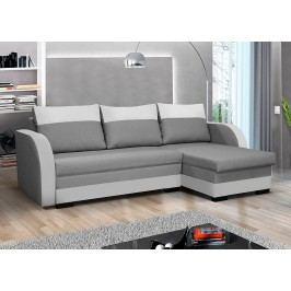Pohodlná sedací souprava s úložným prostorem v kombinaci šedé a bílé látky F1236