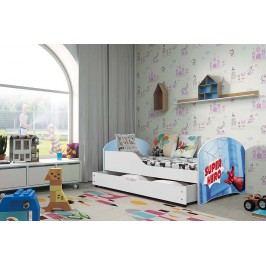 Pohodlná dětská postel v bílé barvě s motivem spider man 80x160 cm F1283