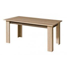 Rozkládací jídelní stůl 160x90 cm v dekoru dub sonoma s bílým leskem typ C11 KN549
