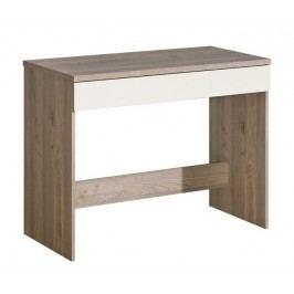 Toaletní stolek v barvě dub nelson v kombinaci s perlovým leskem typ V17 KN601