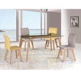 Jídelní stůl 150x90 cm s tvrzeným sklem TK2150