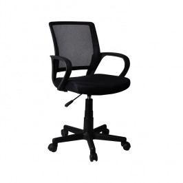 Kancelářská židle s černou opěrkou a černým sedákem TK2057