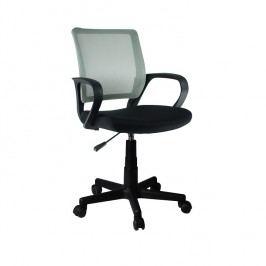 Kancelářská židle s šedou opěrkou a černým sedákem TK2057