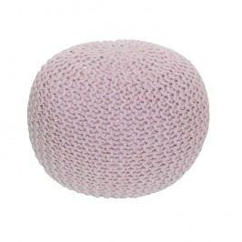Pletený taburet v moderní růžové bavlně TYP 1 TK264