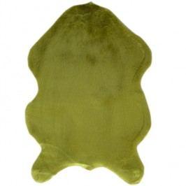 Koberec, umělá kožešina, zelená, EBONY TYP 4