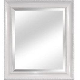 Zrcadlo v bílém provedení s dřevěným rámem TYP 2 TK2200