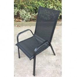 Stohovatelná židle v kombinaci tmavě šedé a černé TK2060