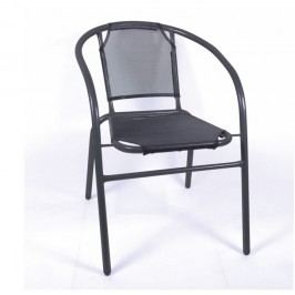Stohovatelná židle v kombinaci tmavě šedé a šedé TK2061