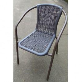 Stohovatelná židle v tmavě šedé na kovové podstavě TK2063