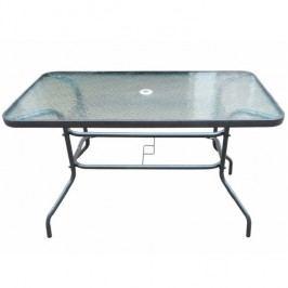Zahradní stůl 120x70cm s tvrzeným sklem na ocelové konstrukci TK2106