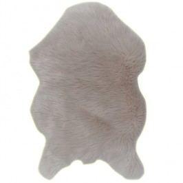 Koberec, umělá kožešina, béžová, 60x90, EBONY TYP 2