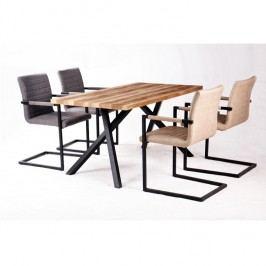 Jídelní stůl 150x80cm v provedení světlé švestky TK2092