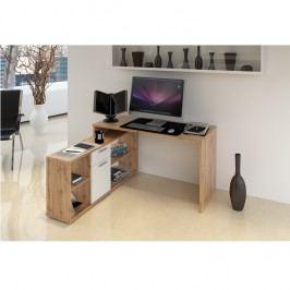 Počítačový stůl 135x60cm v dekoru dub wotan TK2091