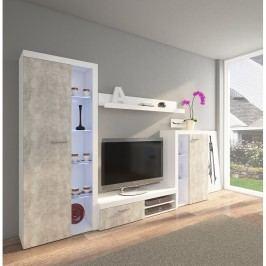 Obývací stěna ve světlém betonu TK2247