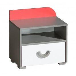 Noční stolek s možností výběru barvy a v barvě grafit a bílé typ F12 KN742