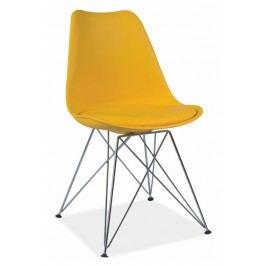 Jídelní židle ve žluté barvě KN362