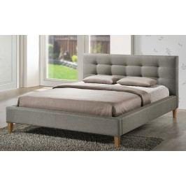 Čalouněná manželská postel 160x200 cm v šedé barvě KN634