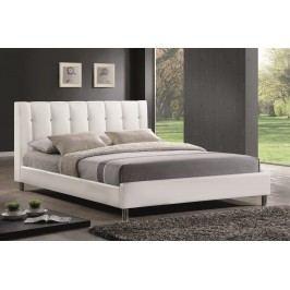 Čalouněná manželská postel 160x200 cm v bílé barvě KN635