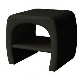 Čalouněný noční stolek v černé ekokůži KN323