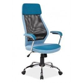 Kancelářské otočné křeslo v modré barvě KN768