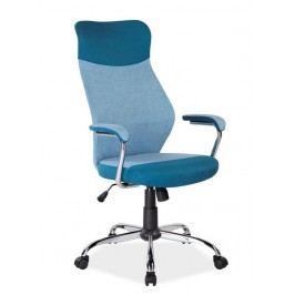 Kancelářské otočné křeslo v modré barvě KN771