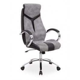 Kancelářské otočné křeslo v šedé a černé barvě KN769
