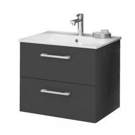 Koupelnová skříňka s umyvadlem v grafit lesku 59 cm F1250