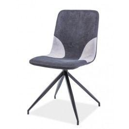 Jídelní čalouněná židle v šedé barvě na kovové konstrukci KN694