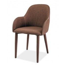 Jídelní čalouněná židle v hnědé barvě KN678