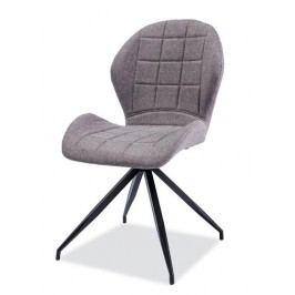 Čalouněná jídelní židle v šedé barvě s elegantním prošíváním KN1027