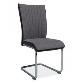 Jídelní židle s čalouněním v šedé látce s tmavě šedými boky KN669