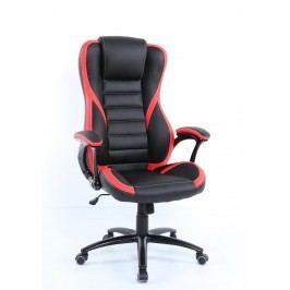 Pohodlné kancelářské křeslo v kombinaci černé a červené barvy F1260