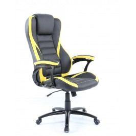 Pohodlné kancelářské křeslo v kombinaci černé a žluté barvy F1260