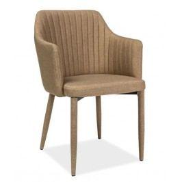 Jídelní čalouněná židle v béžové barvě KN676