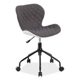 Kancelářské otočné křeslo v šedé barvě KN755