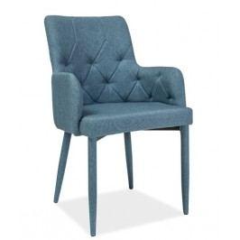 Jídelní židle s čalouněním v modré látce KN671