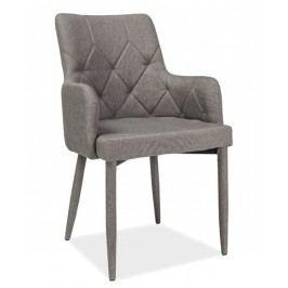 Jídelní židle s čalouněním v šedé látce KN671