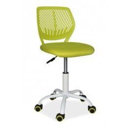 Kancelářská otočná židle v limetkově zelené barvě KN760