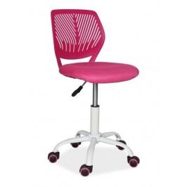 Kancelářská otočná židle v růžové barvě KN760