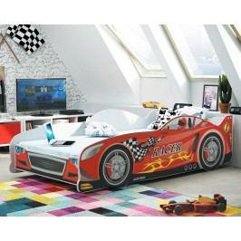 Postel ve stylu závodního auta v červené barvě F1285