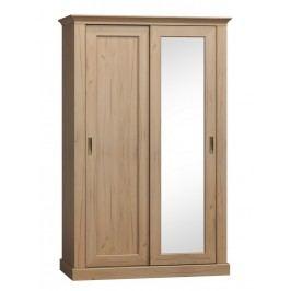 Šatní skříň 183 cm s posuvnými dveřmi se zrcadlem s možností výběru dekoru typ A183 KN746