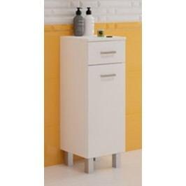 Koupelnová skříňka z lamina v provedení bílý lesk 30 cm F1297