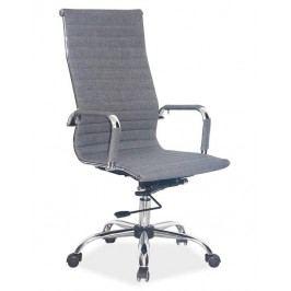 Kancelářská otočná židle v šedé barvě Q040 KN102