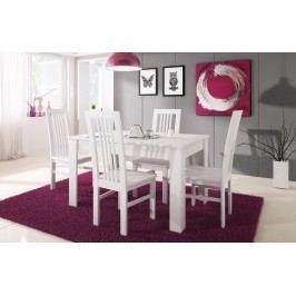 Rozkládací jídelní stůl 120x80 cm v bílé barvě KN458