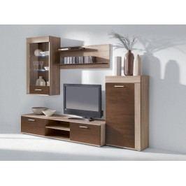 Obývací stěna v kombinaci dub sonoma a čokoláda KN112 New