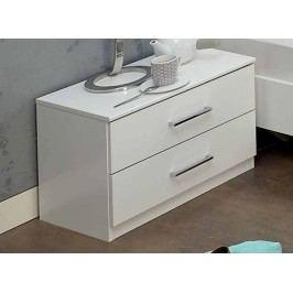 Noční stolek se zásuvkami v alpské bílé barvě typ 697 KN809